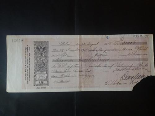 Вексель Австро-Венгрия 1911г Станислав