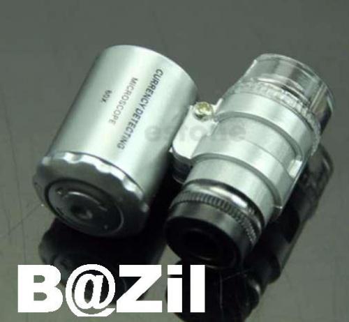 Карманный микроскоп-лупа с 60-кратным увеличением .