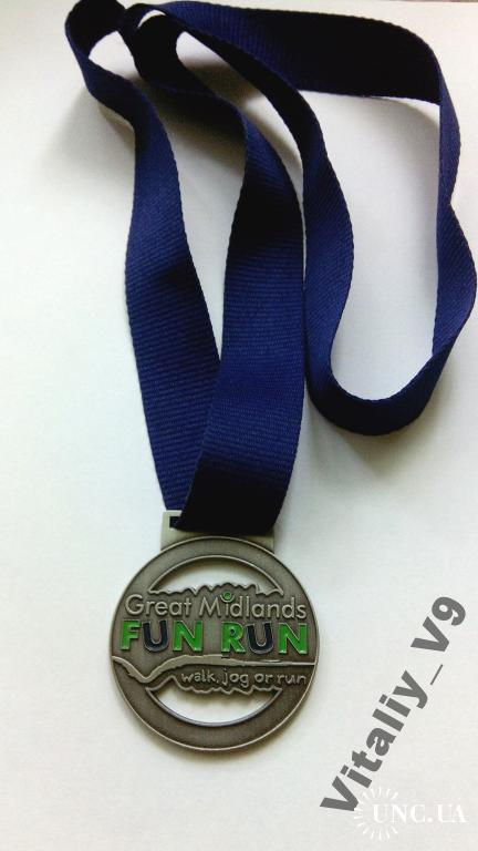 Медаль Great Midlands Fun Run 2013