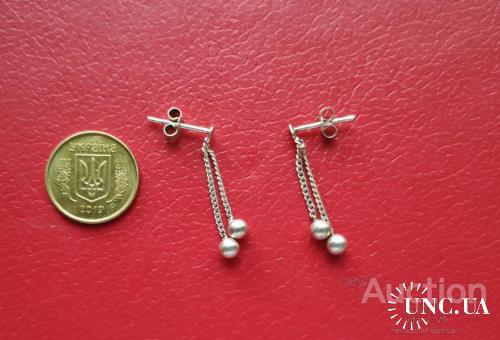 Серьги серебро 925 Англия.