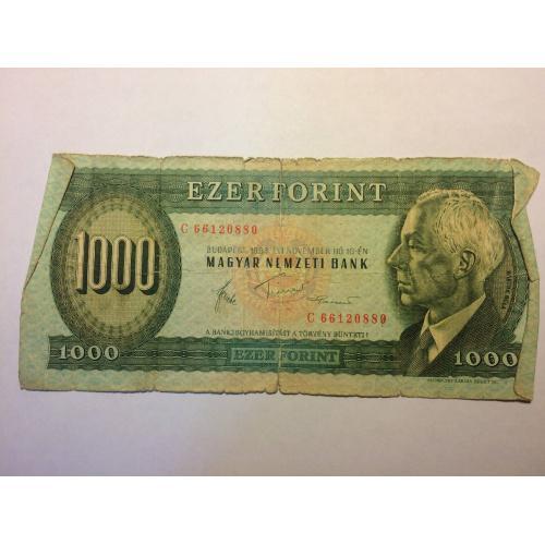 1000 форинтов Венгрия 1983