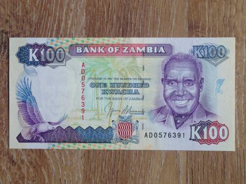 Банкнота 100 квача Замбия
