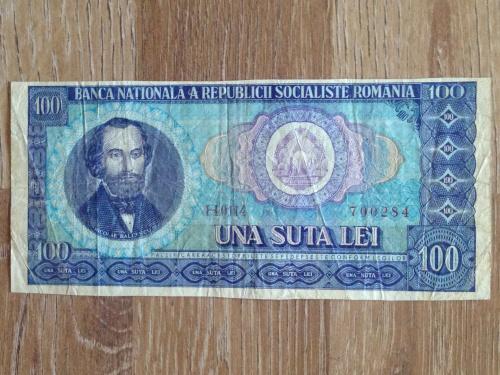 Банкнота 100 лей Румыния.