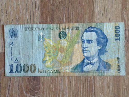 Банкнота 1000 лей Румыния 1998.