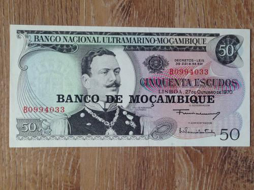 Банкнота 50 эскудо Мозамбик 1970