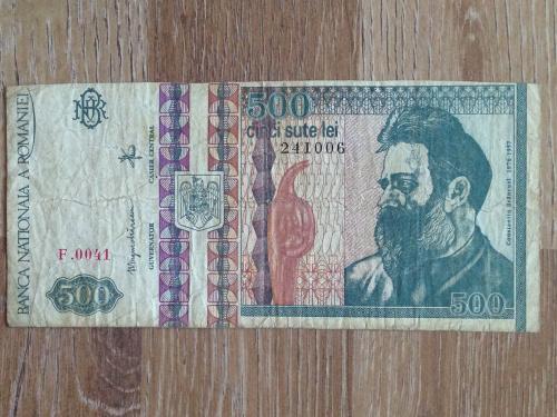 Банкнота 500 лей Румыния 1992.