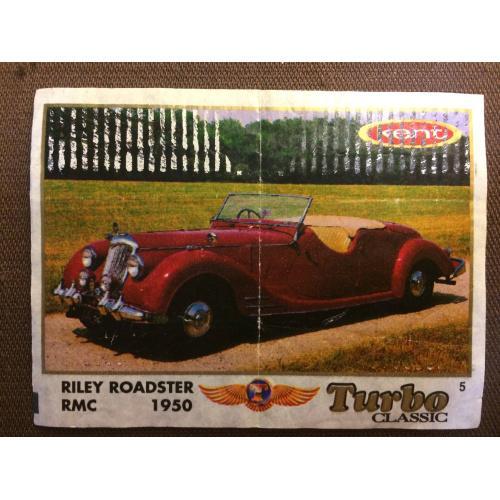 """Фантик, вкладыш от жвачки  Turbo Kent Classic """" ROADSTER RMC 1950"""""""