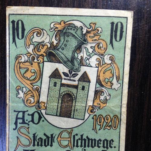 Нотгельд 10 пфенингов  - Германия. 1920 г.