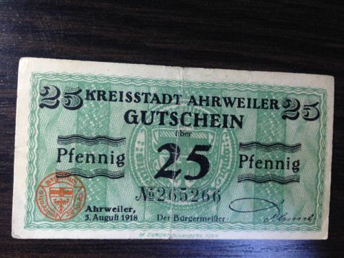 Нотгельд 25 пфенингов  - Германия. 1918 г.