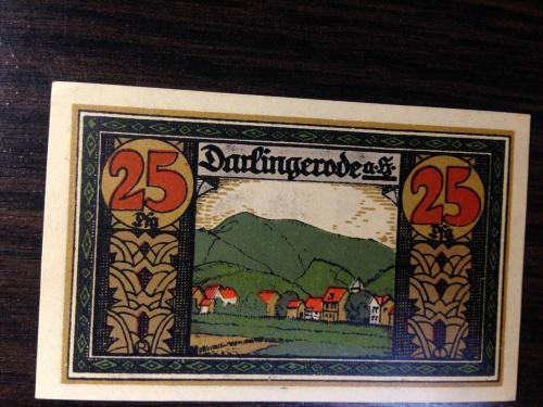 Нотгельд 25 пфенингов  - Германия.