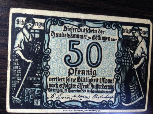 Нотгельд 50 пфенингов  - Германия.