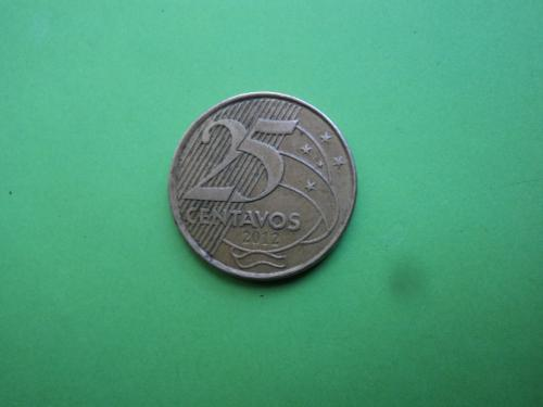 Бразилия 2012г. 25 сентаво.