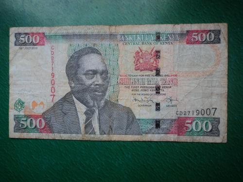 Кения 500 шиллингов 2010г.