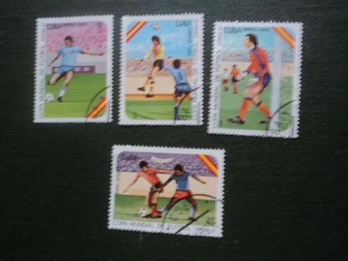 Куба 1982г. Футбол. Испания-82.