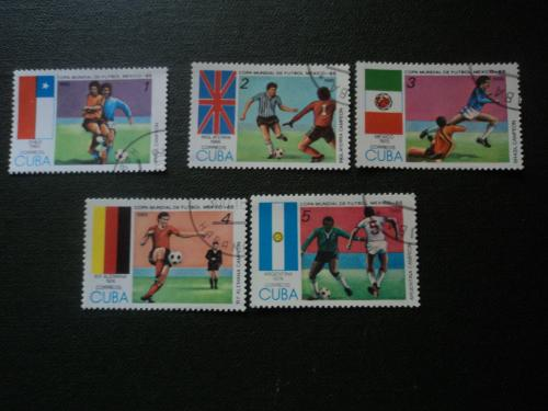 Куба 1985г. Футбол. Чемпионат мира в Мексике 1986г.