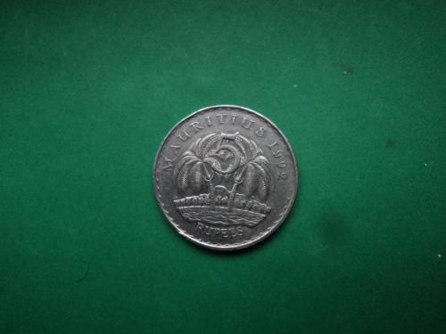 Маврикий. Африка. 5 рупий 1992г.