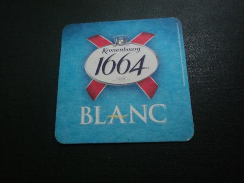 Подставка под пиво. Бирдекель. Костер. Бирмат. Blanc 1664.