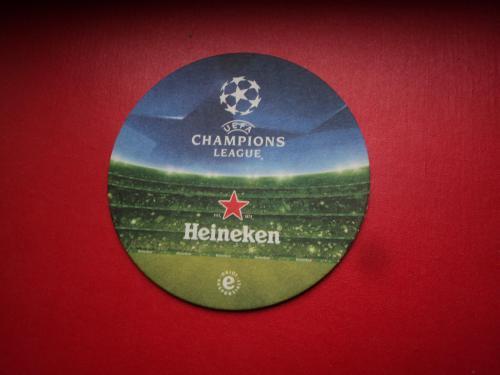 Подставка под пиво. Костер. Бирдекель. Декель. Heineken. Футбол. Лига чемпионов.