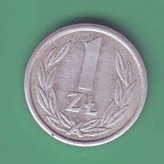 1 злотый 1989г. Польша.