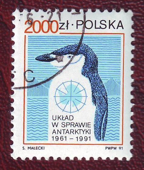 1991 Польша Пингвин  Фауна