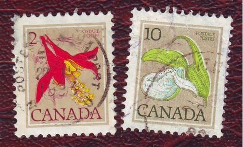 Флора 2 марки  Канада  .  1985г. Гаш.