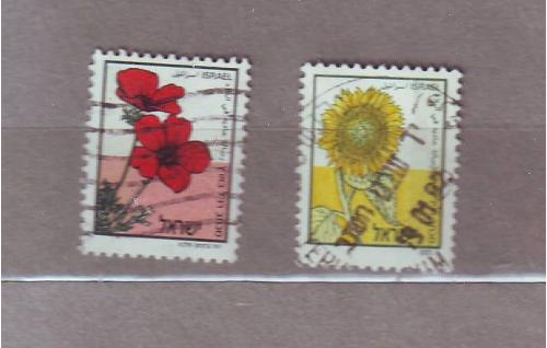 Флора.Цветы. 2 марки.Израиль.