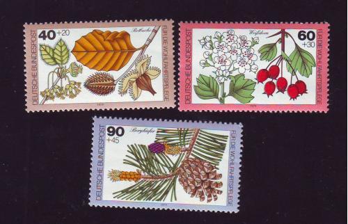 Флора.Растения.Плоды. 3 марки  Германия(ГДР).1979 НеГаш.