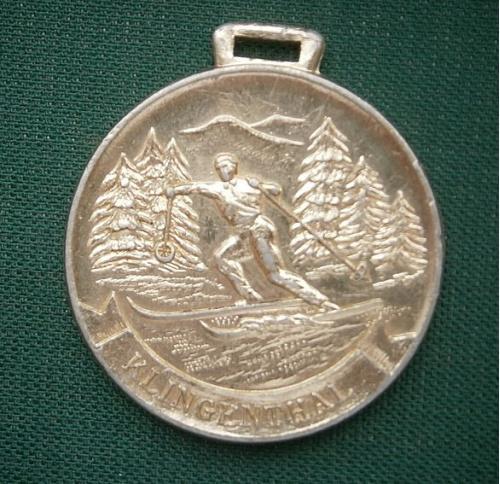 Медаль спортивная Международные соревнования Клингельталь  1957г