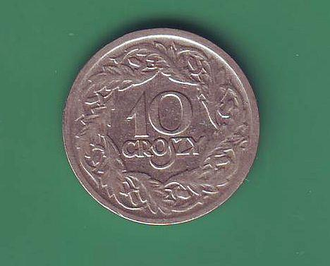 Монета 10 грош 1923г.Польша.