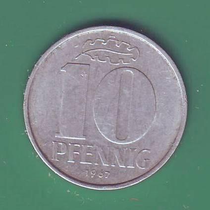 10 пфеннигов 1967 А Германия (ГДР)