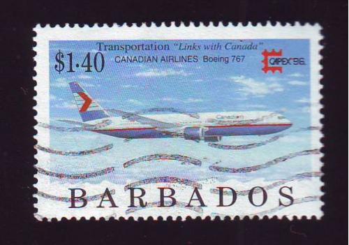 Транспорт.Авиация. Барбадос. Гаш.