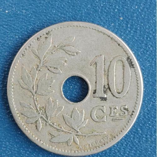 10 сантимов 1905 год Бельгия Король Леопольд ІІ 1865-1909