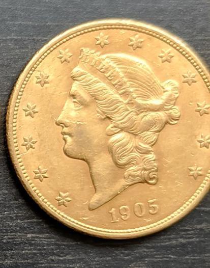 20 долларов США 1905 Золото