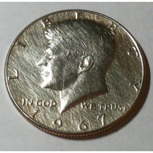 Пол доллара Кенеди 1967 год, серебро 40%