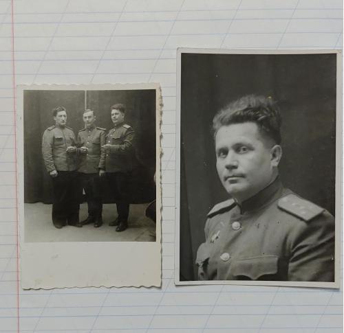Фото Военные офицеры, 2 я мировая война, форма, орден Красной звезды