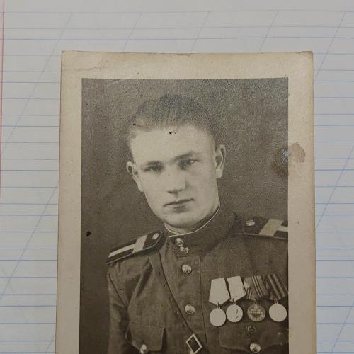 Лот 4 Фото Старшина 2 я мировая война, форма, медали Германия Эссен
