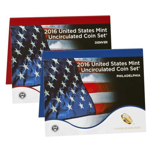 Годовой набор монет США 2016, UNC Мондвор P, D