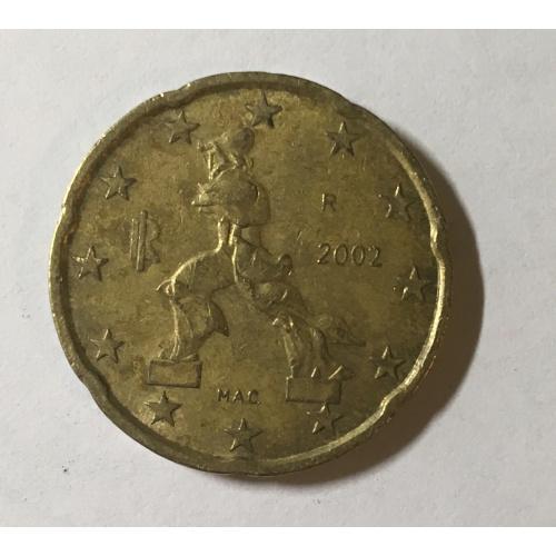 Италия 20 евроцентов, 2002 год