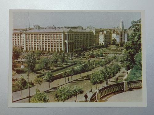 Київ Вид на площу Калініна. (Майдан Незалежності) 1959 рік