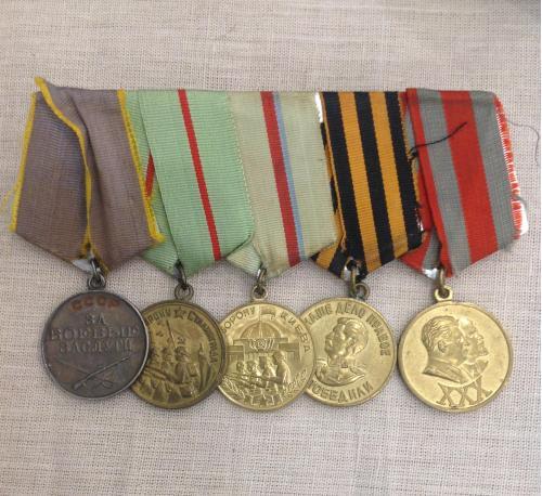 Комплект медалей СССР За БЗ, За оборону Сталинграда, За оборону Киева, За победу над Германией