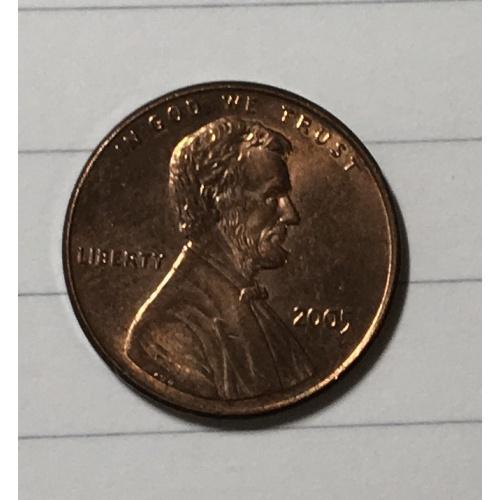 Монета 1 цент 2005 год