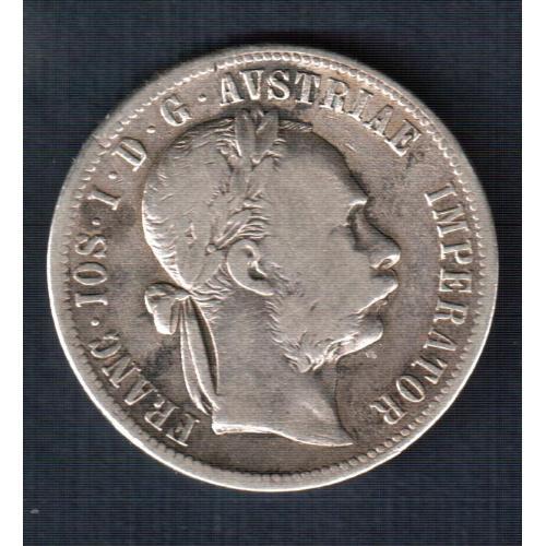 Монета 1 флорин, 1879 год, Австрия  серебро 0,900
