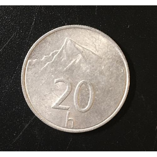 Монета Словакия 20 галлеров,1993