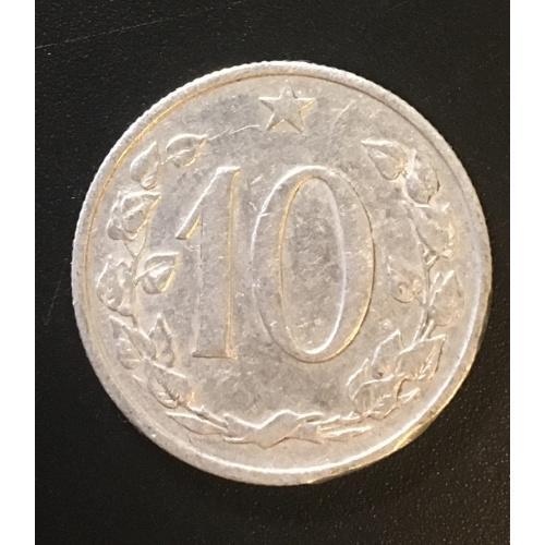 Монета Чехословакия 10 галлеров,1962