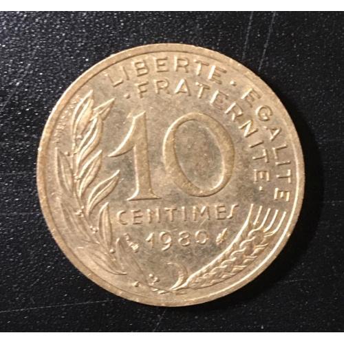 Монета Франция 10 сантимов,1980