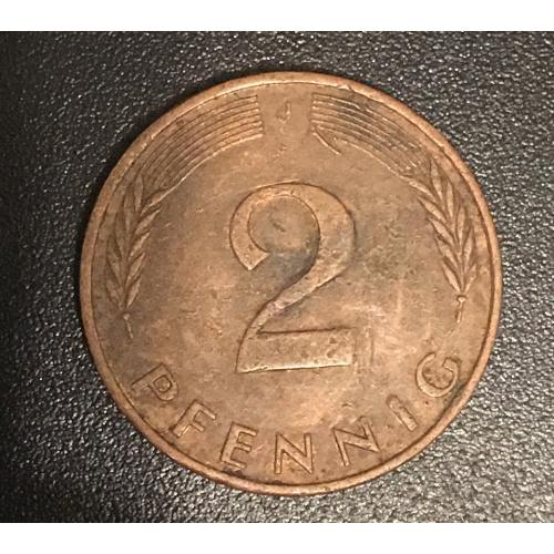 Монета Германия 2 пфеннига, 1991