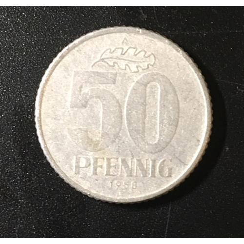 Монета Германия 50 пфеннингов,1958.1