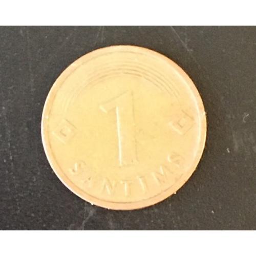 Монета Латвия 1 сантим,1992