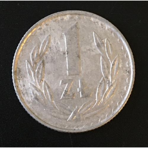 Монета Польша 1 злот,1985