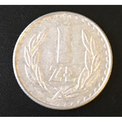 Монета Польша 1 злот,1988